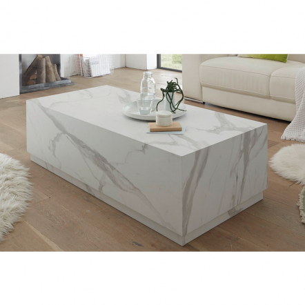 CESARE COFFEE TABLE 124x56x35Ycm ΛΕΥΚΟ MARBLE