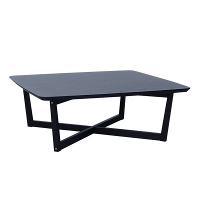 SQUARE COFFEE TABLE 100x100x37Ycm ΜΑΥΡΟ