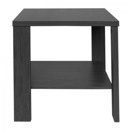 TOBY COFFEE TABLE 50x50x48Ycm BLACK OAK