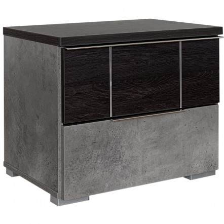 MAURICE ΚΟΜΟΔΙΝΟ 58x39x48Ycm BLACK OAK/CEMENT