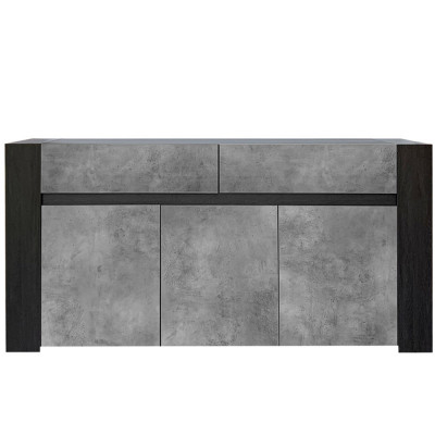 WASCO ΜΠΟΥΦΕΣ 180x41x87Ycm BLACK OAK/CEMENT