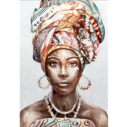 AFRICAN WOMAN PORTAIT ΠΙΝΑΚΑΣ 70x3.2x100Ycm OIL PAINTING
